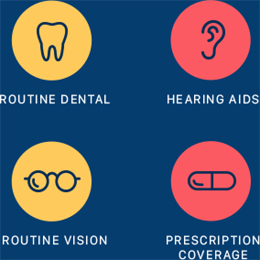 Routine Dental, Routine Vision, Hearing Aids, Prescription Coverage Mobile